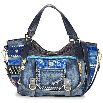 Taška Ženy Tašky přes rameno Desigual BOLS_ROTTERDAM MINI EXT.EXOTIC Černá / Džínová modř