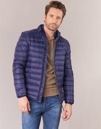 Textil Muži Prošívané bundy Vicomte A. DOUDOUNE HOMME MANCHES LONGUES NAVY Tmavě modrá
