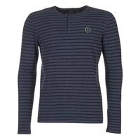 Textil Muži Trička s dlouhými rukávy Le Temps des Cerises ROGER Tmavě modrá
