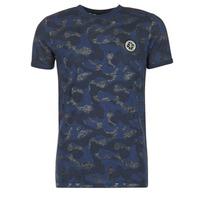 Textil Muži Trička s krátkým rukávem Le Temps des Cerises CAMOSTORK Tmavě modrá