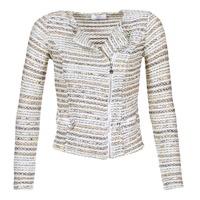 Textil Ženy Saka / Blejzry Le Temps des Cerises MIRABEAU Béžová / Bílá