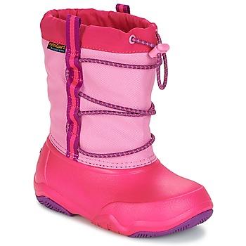 Boty Dívčí Zimní boty Crocs Swiftwater waterproof boot Růžová