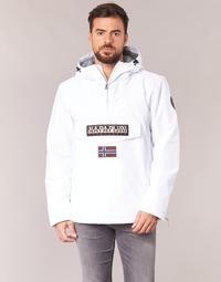 Textil Muži Parky Napapijri RAINFOREST Bílá