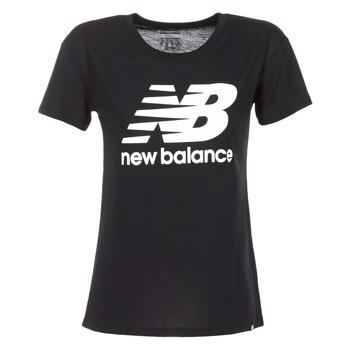 Textil Ženy Trička s krátkým rukávem New Balance NB LOGO T Černá / Bílá