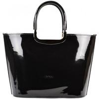 Taška Ženy Velké kabelky / Nákupní tašky Grosso Luxusní kabelka  S7 černá lakovaná Černá