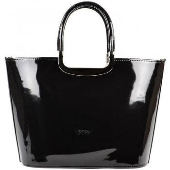 Grosso Velké kabelky / Nákupní tašky Luxusní kabelka S7 černá lakovaná - Černá