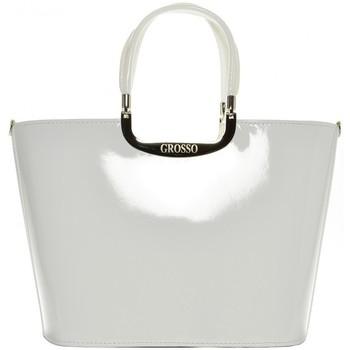 Taška Ženy Kabelky  Grosso Elegantní bílá lakovaná kabelka S7 bílá / smetanová
