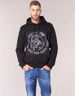 Textil Muži Mikiny Diesel ALBERT Černá