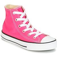 Boty Dívčí Kotníkové tenisky Converse CHUCK TAYLOR ALL STAR SEASONAL HI PINK POW Růžová
