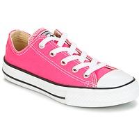 Boty Dívčí Nízké tenisky Converse CHUCK TAYLOR ALL STAR SEASONAL OX PINK POW Růžová