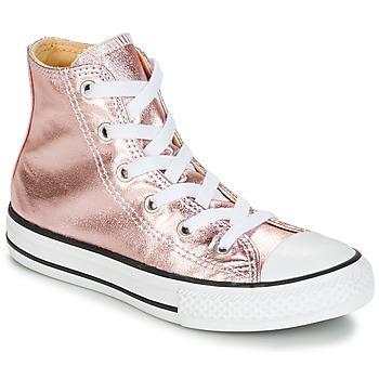 Boty Dívčí Kotníkové tenisky Converse CHUCK TAYLOR ALL STAR METALLIC SEASONAL HI METALLIC SEASONAL HI Růžová / Bílá / Černá