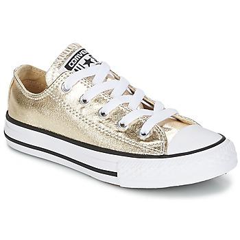 Boty Dívčí Nízké tenisky Converse CHUCK TAYLOR ALL STAR Zlatá / Bílá / Černá