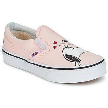 Vans Street boty Dětské TD CLASSIC SLIP-ON SNOOPY - Růžová