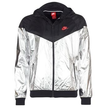 Textil Muži Větrovky Nike WINDRUNNER METALLIC Černá / Stříbřitá