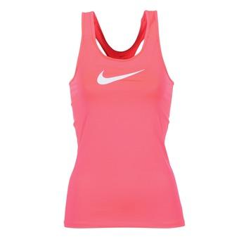 Textil Ženy Tílka / Trička bez rukávů  Nike NIKE PRO COOL TANK Růžová / Bílá