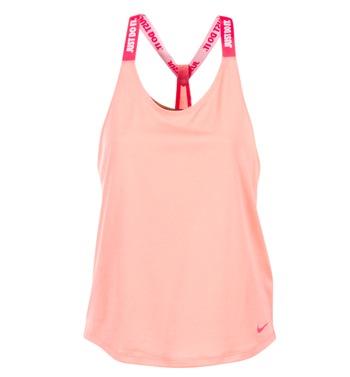 Textil Ženy Tílka / Trička bez rukávů  Nike NIKE DRY TANK ELASTIKA Růžová / Červená