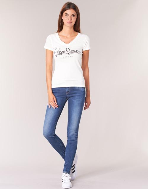 Textil Ženy Rifle skinny Pepe jeans SOHO Modrá