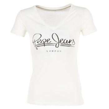 Textil Ženy Trička s krátkým rukávem Pepe jeans BRENDA Bílá