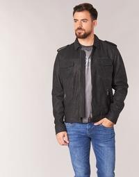 Textil Muži Kožené bundy / imitace kůže Pepe jeans NARCISO Černá