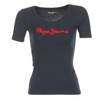Textil Ženy Trička s krátkým rukávem Pepe jeans MARIA Černá
