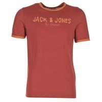 Textil Muži Trička s krátkým rukávem Jack & Jones RETRO ORIGINALS Červená