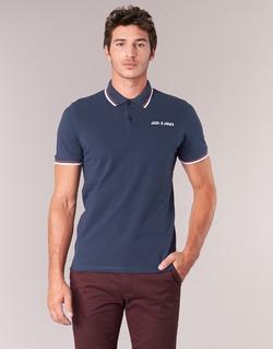 Textil Muži Polo s krátkými rukávy Jack & Jones WAZ ORIGINALS Tmavě modrá
