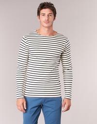 Textil Muži Trička s dlouhými rukávy Armor Lux GELGA Bílá / Tmavě modrá