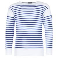 Textil Muži Trička s dlouhými rukávy Armor Lux DISJON Bílá / Modrá