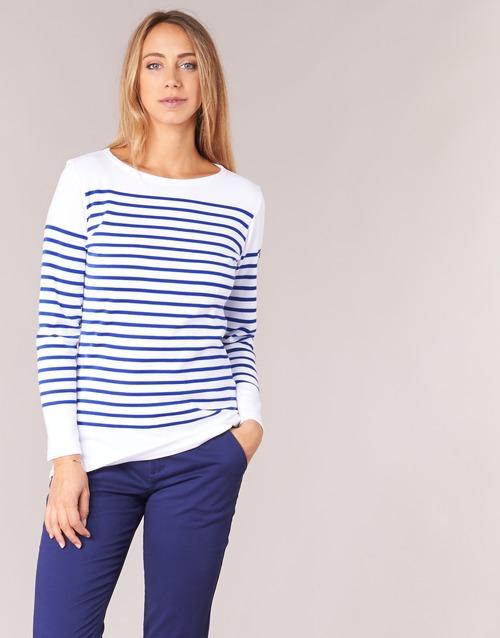 Textil Ženy Trička s dlouhými rukávy Armor Lux ROADY Bílá / Modrá