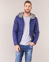 Textil Muži Prošívané bundy Yurban IHOUZOU Tmavě modrá
