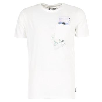 Textil Muži Trička s krátkým rukávem Jack & Jones CHECK ORIGINALS Bílá