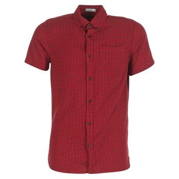 Textil Muži Košile s krátkými rukávy Jack & Jones JOHAN ORIGINALS Červená