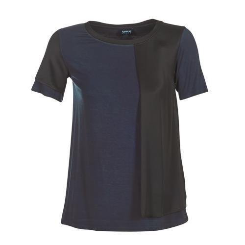 Textil Ženy Trička s krátkým rukávem Armani jeans DRANIZ Tmavě modrá / Černá