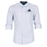 Textil Muži Košile s dlouhymi rukávy Scotch & Soda DARLU Bílá / Modrá