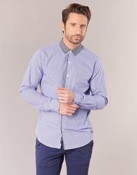 Textil Muži Košile s dlouhymi rukávy Scotch & Soda JILLA Modrá