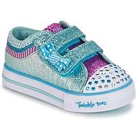 Boty Dívčí Nízké tenisky Skechers Shuffles Bílá / Modrá