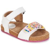 Boty Dívčí Sandály Kickers NAISSA Bílá