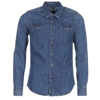 Textil Muži Košile s dlouhymi rukávy Yurban HERZI Modrá