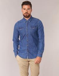 Textil Muži Košile s dlouhymi rukávy Yurban IHERZI Modrá