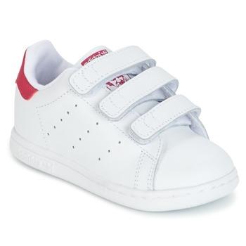 Boty Dívčí Nízké tenisky adidas Originals STAN SMITH CF I Bílá / Růžová