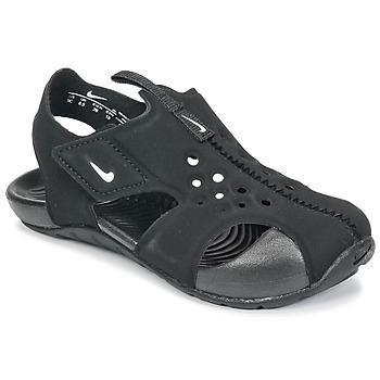 Boty Děti pantofle Nike SUNRAY PROTECT 2 TODDLER Černá / Bílá