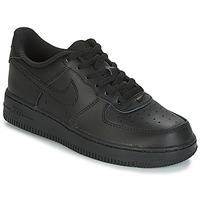 Boty Děti Nízké tenisky Nike AIR FORCE 1 CADET Černá