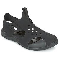 Boty Děti pantofle Nike SUNRAY PROTECT 2 CADET Černá / Bílá