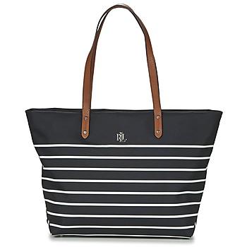 Taška Ženy Velké kabelky / Nákupní tašky Ralph Lauren BAINBRIDGE TOTE Černá / Bílá