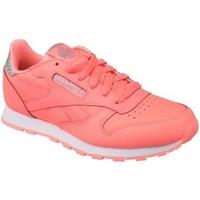Boty Děti Nízké tenisky Reebok Sport Classic Leather růžová