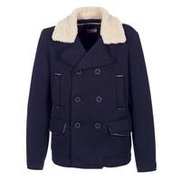 Textil Muži Kabáty Casual Attitude HAXO Tmavě modrá