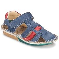 Boty Chlapecké Sandály El Naturalista KIRI Modrá / Červená