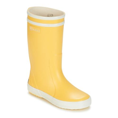 Boty Děti Holínky Aigle LOLLY POP Žlutá / Bílá
