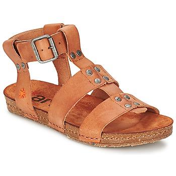 Boty Ženy Sandály Art CRETA SPARA Velbloudí hnědá