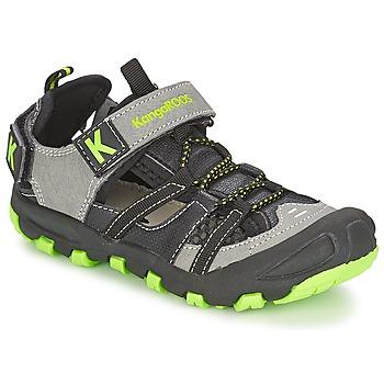 Boty Chlapecké Sandály Kangaroos KANGASPEED 2068 Černá / Zelená